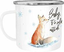 Autiga Emaille Tasse Becher Weihnachten Baby it`s