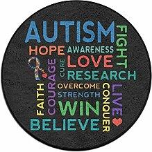 Autism Awareness rund Boden Teppich Fußmatten für Home Decorator Esszimmer Schlafzimmer Küche Badezimmer Balkon