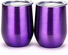 Autman Isoliertes Stielloses Weinglas, ohne Stiel,