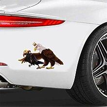 Auto-Aufkleber 13 cm x 8 cm für Adler und Krähe