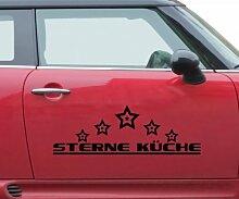Auto Aufkleber 5 Sterne Küche Essen Dekoration Text Design Tattoo Sticker 5Q795, Farbe:Dunkelgrün Matt;Breite vom Motiv:160cm