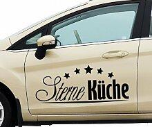Auto Aufkleber 5 Sterne Küche Text Auto Dekoration Design Tattoo Sticker 5Q788, Farbe:Braun glanz;Breite vom Motiv:100cm
