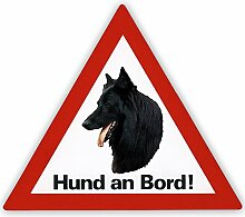 Auto Aufkleber Belg. Schäferhund Hund an Bord