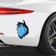 Auto-Aufkleber Blue Face Wolf Autoaufkleber Auto
