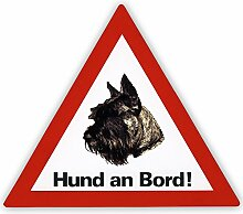 Auto Aufkleber Hund an Bord inkl. 4 World Sticker