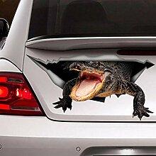 Auto-Aufkleber mit Krokodil-Motiv, Vinyl-Aufkleber