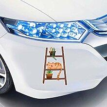 Auto-Aufkleber Spaßleiter für Katzen und