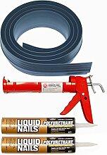 Auto Care Produkte Inc Tsunami Dichtung Garage Tür Schwelle Seal Kit, grau, 51016