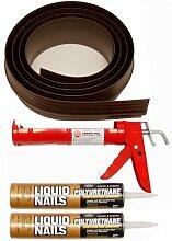 Auto Care Produkte Inc Tsunami Dichtung Garage Tür Schwelle Seal Kit, grau, 52018