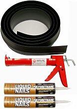 Auto Care Produkte Inc Tsunami Dichtung Garage Tür Schwelle Seal Kit, grau, 53020