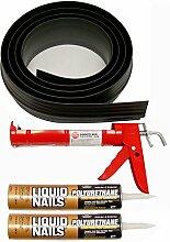Auto Care Produkte Inc Tsunami Dichtung Garage Tür Schwelle Seal Kit, grau, 53018