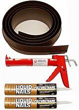Auto Care Produkte Inc Tsunami Dichtung Garage Tür Schwelle Seal Kit, grau, 52020