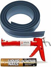 Auto Care Produkte Inc Tsunami Dichtung Garage Tür Schwelle Seal Kit, grau, 51010