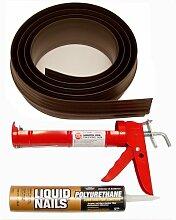 Auto Care Produkte Inc Tsunami Dichtung Garage Tür Schwelle Seal Kit, grau, 52010