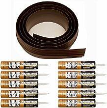Auto Care Produkte Inc Tsunami Dichtung Garage Tür Schwelle Seal Kit, grau, 52100