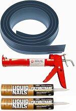 Auto Care Produkte Inc Tsunami Dichtung Garage Tür Schwelle Seal Kit, grau, 51020