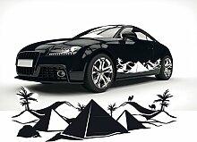 Auto Dekoration Aufkleber Sahara Wüste Tattoo Silhouette Carstyling Folienplot |SKI020