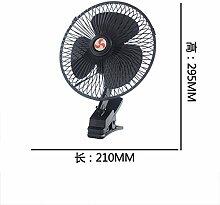 Auto elektrische Lüfter 12 v 24 v automotive Big Truck microbus kleinen Ventilator 6 8 10 Zoll die Geschwindigkeit erschüttern kann, 21 cm Schwarz 12V