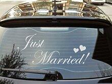 Auto Fenster Aufkleber 'Just Married'