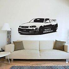 Auto schlafzimmer applique wandkunst deco
