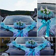 Auto Schmuck Blumen Braut Paar Dekoration