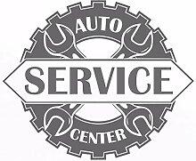 Auto Service Center Logo Fenster Aufkleber Vinyl