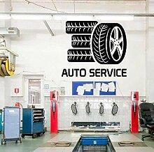 Auto Service Glas Aufkleber, Reifen-Styling Wand