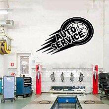 Auto Service Wand Vinyl Aufkleber, Reifen,