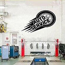 Auto Service Wand Vinyl Aufkleber Reifen Reparatur