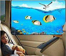 Auto-Sonnenschutz-Set, magnetisch, Cartoon-Motiv,