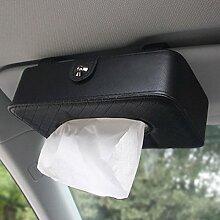 Auto Sonnenschutz Visier Leder Tissue Box Handlich Papier Serviette Halter Clip schwarz