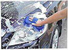 Auto waschen Handschuhe Auto Reinigung Werkzeuge Schwamm Waschen Handschuhe, blau