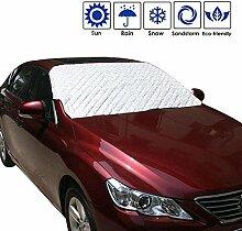 Auto Windschutzscheibe Schnee, AOLVO Universal Sun Sonnenschutz mit Baumwolle Dickere Snow Displayschutzfolie Cover passend für die meisten Auto Sliver 1