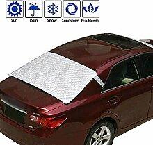 Auto Windschutzscheibe Schnee, AOLVO Universal Sun Sonnenschutz mit Baumwolle Dickere Snow Displayschutzfolie Cover passend für die meisten Auto Sliver 2