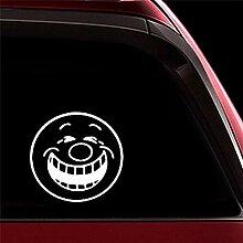 Autoaufkleber 15,3X14,7 Cm Große Smiley Ausdruck