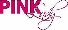Autoaufkleber Auto Heck Aufkleber für Heckscheibe Spruch Pink Lady lustig (70x31cm // 041G pink)