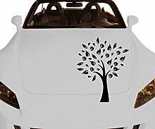 Autoaufkleber Baum Apfelbaum Pflanze Aufkleber Äste Blätter Blüten Retro Herbst Deko Wald Auto Aufkleber 1E068, Farbe:Gold glanz;Hohe:60cm