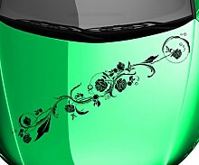 Autoaufkleber Blumenranke Ranke Blume Blüte Pflanze Auto Sticker Aufkleber 5E193, Farbe:Dunkelgrün Matt;Breite vom Motiv:90cm