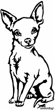 Autoaufkleber Chihuahua Auto Aufkleber AT0103