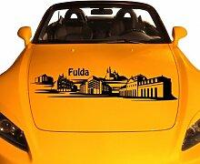Autoaufkleber Fulda Deutschland Skyline Car Sticker Auto Aufkleber Stadt 1M277, Farbe:Flieder glanz;Skyline Länge:220cm