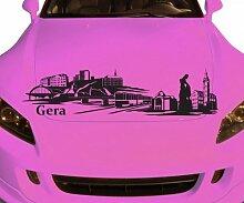 Autoaufkleber Gera Deutschland Skyline Car Sticker Auto Aufkleber Stadt 1M515, Farbe:Braun Matt;Skyline Länge:180cm