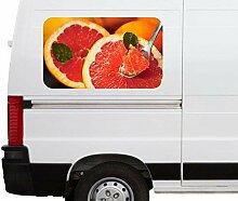 Autoaufkleber Grapefruit Orange Obst Löffel