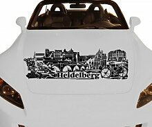 Autoaufkleber Heidelberg XXL Skyline Car Sticker