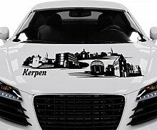 Autoaufkleber Kerpen Skyline Deutschland Car Sticker Auto Aufkleber Stadt 1M276, Farbe:Königsblau Matt;Skyline Länge:180cm