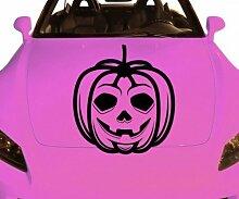Autoaufkleber Kürbis Pumpkin Skull Horror