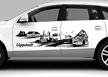 Autoaufkleber Lippstadt Skyline Tattoo Car Sticker