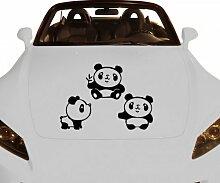 Autoaufkleber Panda Aufkleber Auto Sticker Tattoo Tiere Design 2K021_1, Farbe:Dunkelgrau Matt;Breite vom Motiv:50cm