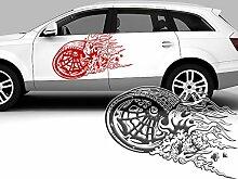 Autoaufkleber Rallye Rennreifen II - Reifen -