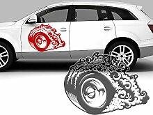 Autoaufkleber Rallye Rennreifen - Reifen - wheel