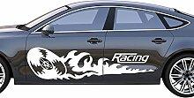 Autoaufkleber Rallye Wheel Reifen Brennspur Fire